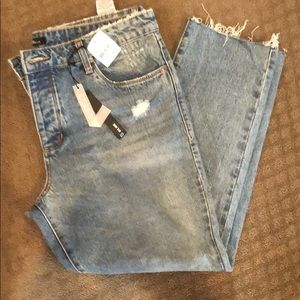Button down boyfriend jeans  NWT